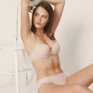 wearing the Marie Jo Avero Padded Balcony Bra in Caffe Latte