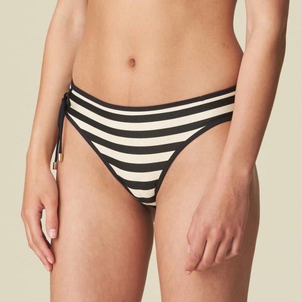 Marie Jo Swim Merle Bikini Set in Noir Rayure bikini brief side view