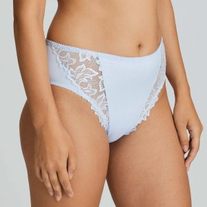 side view of PrimaDonna Deauville Full Brief in Heather Blue
