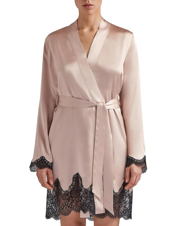 buy the Aubade Toi Mon Amour Silk Robe in Sonate Rose