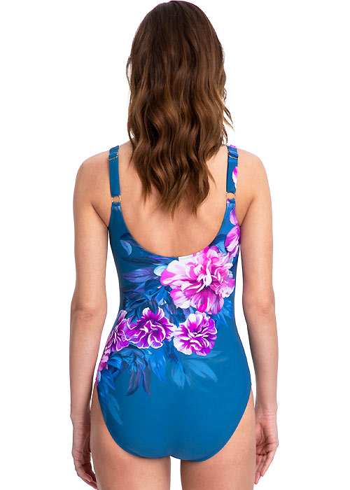 back view of Gottex Fiji Swimsuit in Navy