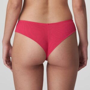 back view of PrimaDonna Sophora Thong in Raspberry