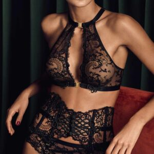 buy the Aubade La Reine de la Nuit Sexy Bra in Black