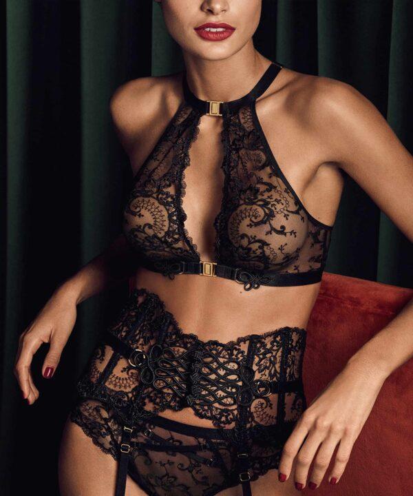 buy the Aubade La Reine de la Nuit Sexy Bra in Black