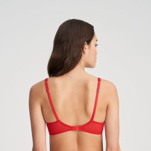 back view of Marie Jo Judith Push Up Bra in Red