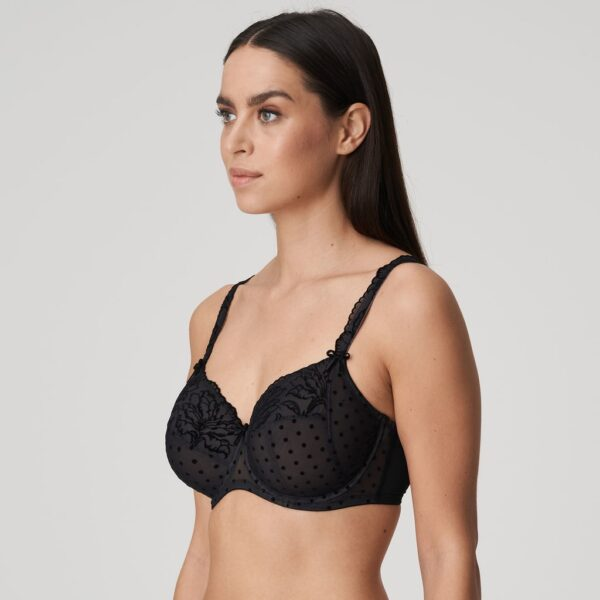 side view of PrimaDonna Twist Soho Full Cup Bra in Black