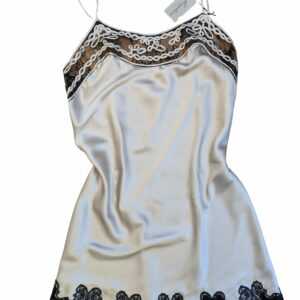buy the Marjolaine Levana Silk Chemise in Champagne