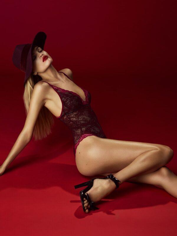 buy the Andres Sarda Mamba Body in Red Boudoir