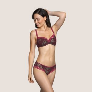 Andres Sarda Mamba Full Cup Bra in Red Boudoir with brief