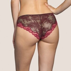 back view of Andres Sarda Mamba Rio Brief in Red Boudoir