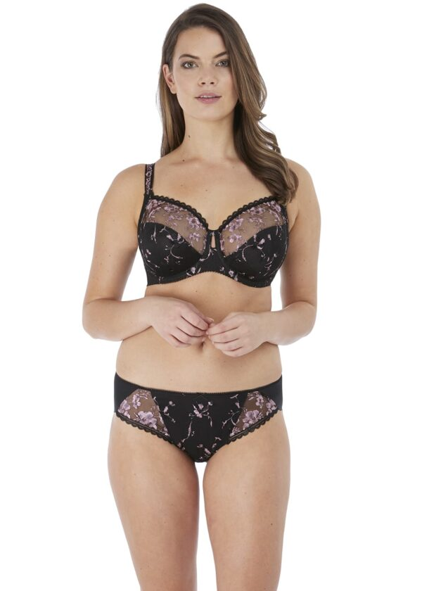 Fantasie Isla Brief in Black with full cup bra