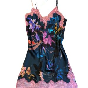 buy the Luna di Seta Winter Garden Silk Chemise in Painted Flowers