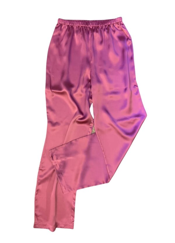 Luna di Seta Silk Pajamas in Camellia bottoms