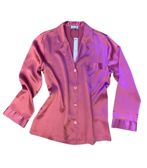 buy the Luna di Seta Silk Pajamas in Camellia
