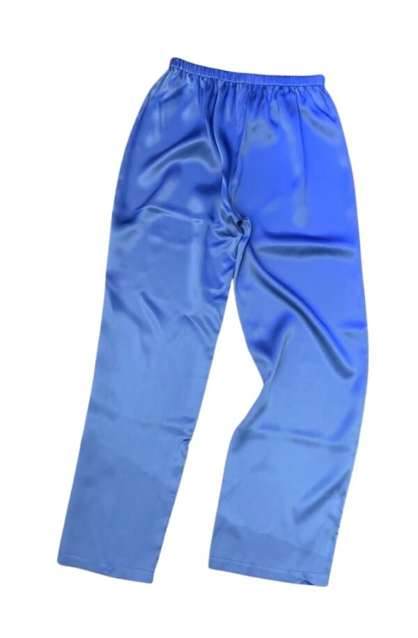 back view of Luna di Seta Silk Pajamas in Lavender bottoms