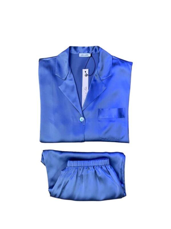 Luna di Seta Silk Pajamas in Lavender set