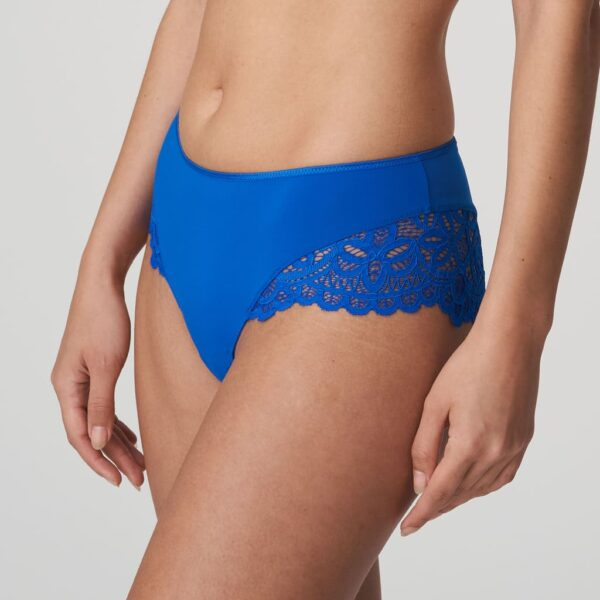 side view of PrimaDonna Twist First Night Hotpant in Electric Blue