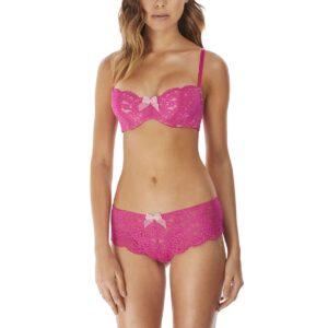 b.tempt'd Ciao Bella Balcony Bra in Pink Yarrow with tanga