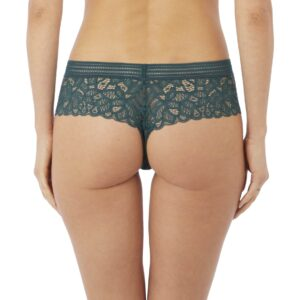 back view of Wacoal Raffine Tanga in Emerald
