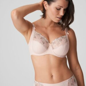 wearing the PrimaDonna Deauville Full Cup Bra in Silky Tan with brief