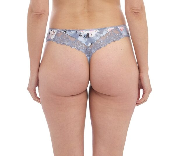 back view of Fantasie Corryn Thong in Smokey Blue