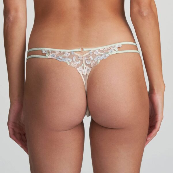back view of Marie Jo Nathy Thong in Pearled Ivory