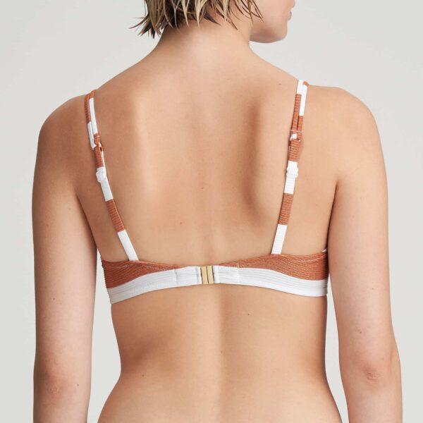Marie Jo Swim Fernanda Bikini Set in Summer Copper heart shape bikini top back view