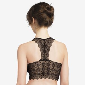 back view of Passionata Georgia Padded Bralette in Black