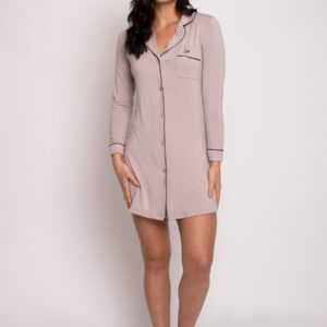 buy the Pretty You London Bamboo Nightshirt in Oyster