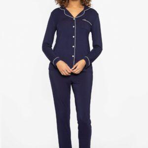 buy the Pretty You London Bamboo Pyjamas in Midnight