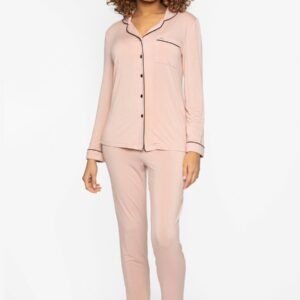 buy the Pretty You London Bamboo Pyjamas in Pink