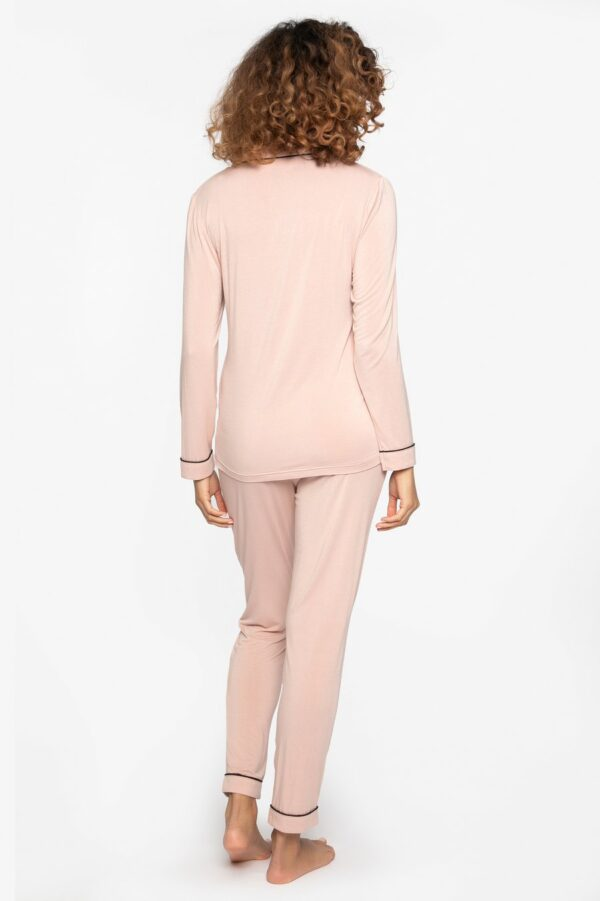 back view of Pretty You London Bamboo Pyjamas in Pink