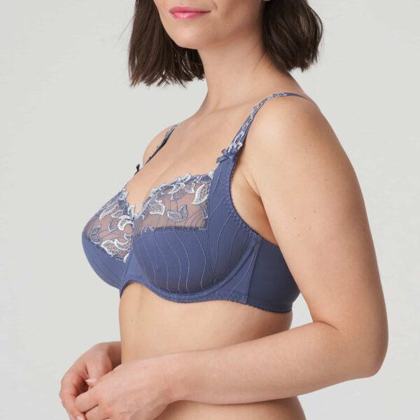 side view of PrimaDonna Deauville Full Cup Bra in Nightshadow Blue