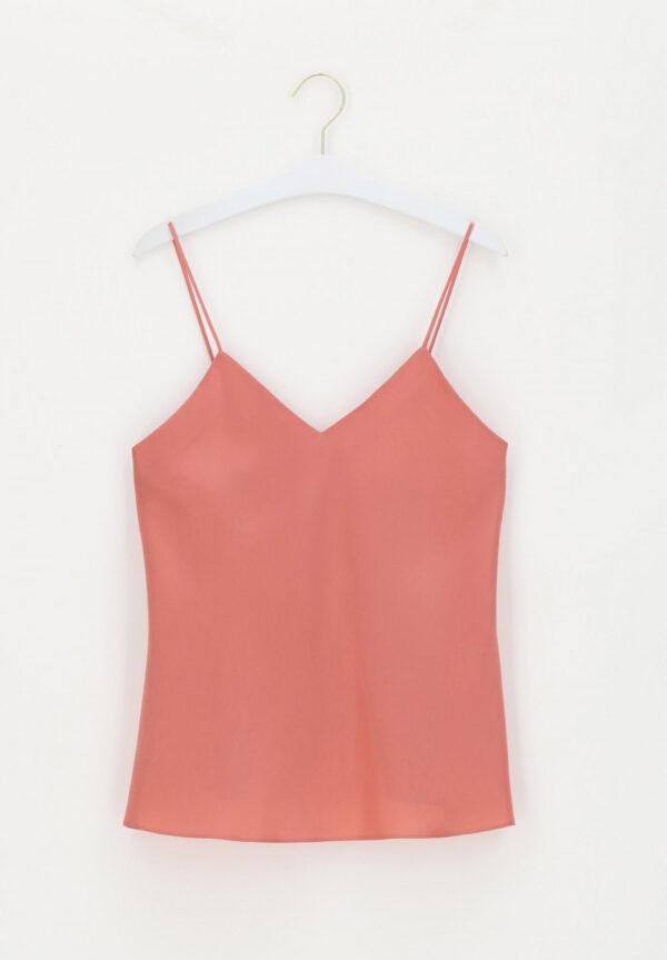 buy the Luna di Seta Silk Camisole in Coral
