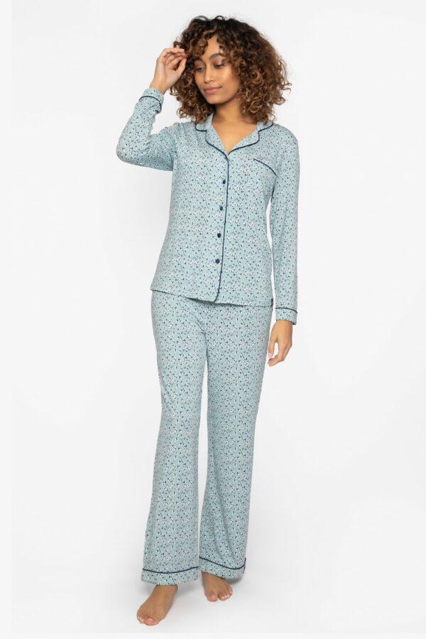 buy the Pretty You London Bamboo Pyjamas in Heart Splash