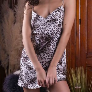 buy the Marjolaine Nurhan Silk Chemise in Panther