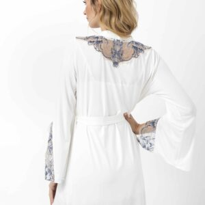back view of Oh! Zuza Vanilla 3704 Robe in Ivory