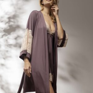 buy the Oh! Zuza Vanilla 3717 Robe in Plum