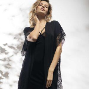 buy the Oh! Zuza Vanilla 3723 Robe in Black