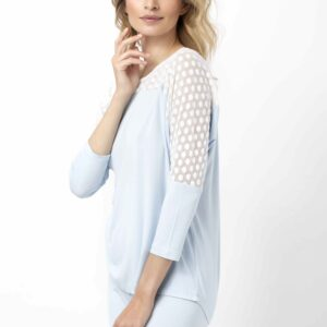 side view of Oh! Zuza Vanilla 3740 Pyjamas in blue