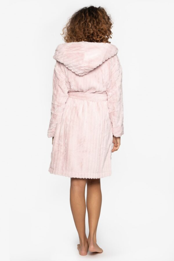 back view of Pretty You London Cloud Robe in Pink