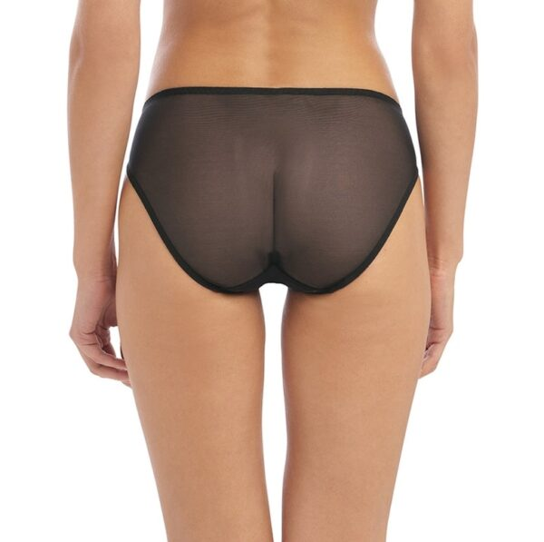 back view of Wacoal Instant Icon Brief in Black Eclipse