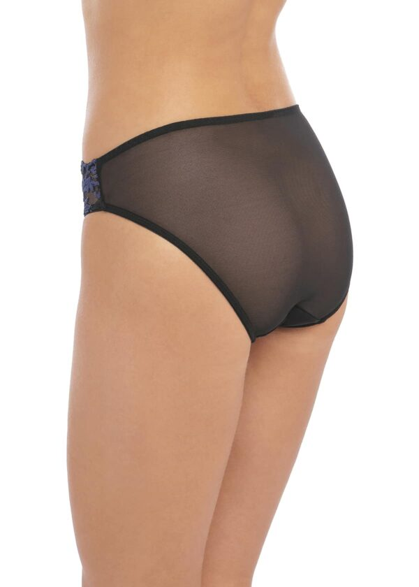 side view of Wacoal Instant Icon Brief in Black Eclipse