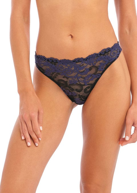 buy the Wacoal Instant Icon Thong in Black Eclipse